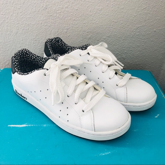 Skechers Shoes | White Leather Sneakers